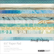 Beach Sandy Toes Collection 6.5 inch Paper Pad Scrapbooking Kit Kaisercraft NEW