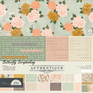 Beautiful Grace Collection 12x12 Scrapbooking Paper Crafting Kit Authentique NEW