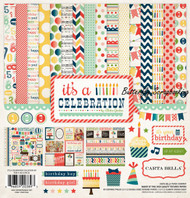 Birthday Its A Celebration 12X12 Scrapbooking Kit Carta Bella Paper Co. NEW