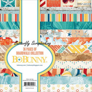 Boardwalk Collection Scrapbooking 6x6 Paper Pad Bo Bunny 36 Pages BoBunny NEW