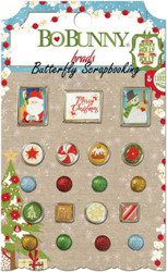 Brads CHRISTMAS SANTA Collection Scrapbooking BRADS Pack BoBunny 18404076 NEW
