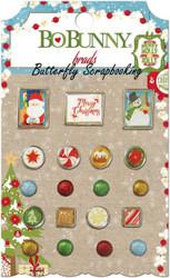Brads CHRISTMAS SANTA Collection Scrapbooking BRADS Pack BoBunny 18404076 NEW