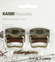 Brass Metal Case Handles, Scrapbooking Embellishments KAISERCRAFT, NEW - TM810