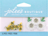 Bumble Bees And Daisies EK SUCCESS Non-Adhesive Embellishments NEW 11 Pieces