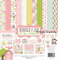 Bundle Of Joy BABY Girl Collection 12X12 Scrapbooking Kit Echo Park Paper Co New