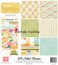 Butterfly Hello Spring Collection 12X12 Scrapbooking Kit Echo Park Paper NEW