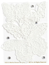 Butterfly Vintage White Lace 3D Scrapbook Stickers Martha Stewart Crafts NEW