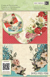 CARD KIT Beyond Postmarks Botanical Create 8 Cards & Envelopes K&Company NEW
