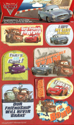 CARS #2 Disney Pixar 3D Stickers EK Success New