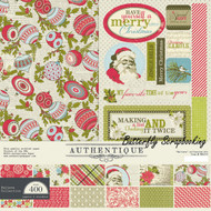 Christmas BELIEVE Collection 12x12 Scrapbooking Paper Crafting Kit Authentique