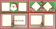 Christmas Santa HO HO HO 2 Page 12X12 Page Layout Scrapbook Kit LIMITED New