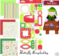 CHRISTMAS Santa's Elf 12X12 Scrapbooking Kit Doodle Bug Design New