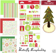 CHRISTMAS TREE 12X12 Scrapbooking Kit Doodle Bug Design NEW