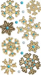 Christmas Wooden Snowflakes 3D Stickers Jolee's Boutique EK Success New