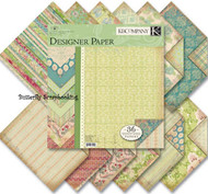 Classic K Charlotte Scrapbooking 12X12 Paper Pad 36 Sheets K&Company NEW