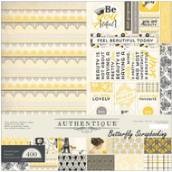 Classique Beauty Collection 12x12 Scrapbooking Paper Crafting Kit Authentique
