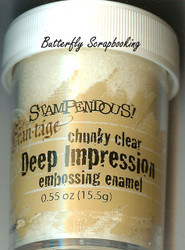 CLEAR Deep Impression Embossing Enamel Powder Frantage Stampendous FREG020 New