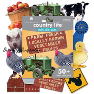 Country Life Die Cuts 50+ Pieces Scrapbooking Die Cuts Paper House DCMA-0251 NEW