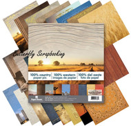 COUNTRY WESTERN 12x12 Scrapbooking Paper Pad 24 Sheets Paper House PA-0032 NEW