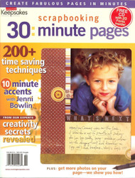 Creating Keepsakes - 30: Minute Scrapbooking Pages Idea Magazine, Font CD Inside