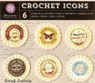 Crochet Icons Embellishments PRIMA MARKETING INC. Embellishments #573683 NEW