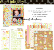 CUTE BABY 12X12 Scrapbooking Kit The Paper Studio NEW