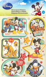Disney Mickey & Friends Boy 3D Stickers EK Success New