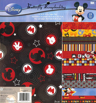 DISNEY MICKEY 12x12 Scrapbooking Paper Pad 24 Sheets EK SUCCESS New