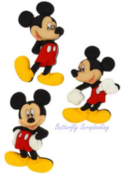 DISNEY MICKEY MOUSE Buttons Dress It Up Button Embellishments Jesse James NEW