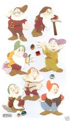 DISNEY Snowwhite 7 Dwarves 3D Stickers by EK Success New