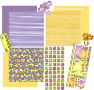 DRAGONFLY SWIRL Collection 12X12 Scrapbook Kit MAGENTA