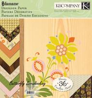 Edamame Designer Paper Pad Scrapbooking 12X12 Paper Pad 36 Sheets K&Company NEW