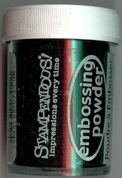 Embossing Powder Detail BLACK Embossing Enamel Jar .55oz Stampendous DP111 NEW