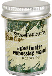 Embossing Powder Frantage Aged GREEN Embossing Enamel .63oz Jar Stampendous NEW