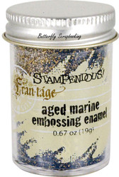 Embossing Powder Frantage Aged MARINE Embossing Enamel .65oz Jar Stampendous NEW