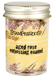 Embossing Powder Frantage Aged Rose Embossing Enamel .71 oz Jar Stampendous NEW