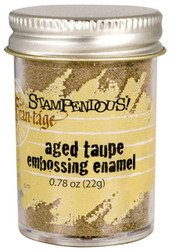 Embossing Powder Frantage Aged TAUPE Embossing Enamel .78oz Jar Stampendous NEW