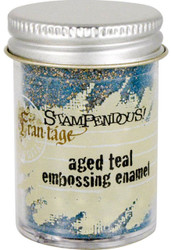 Embossing Powder Frantage Aged TEAL Embossing Enamel .76oz Jar Stampendous NEW
