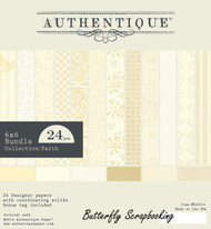 FAITH Collection 6x6 Scrapbooking Paper Crafting Pad Authentique NEW