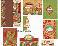 FALL CIDER Artful Card Making Kit Paper Crafting Hot Off The Press 7272 NEW