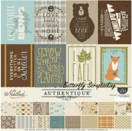 FALL NESTLED Collection Kit 12x12 Scrapbooking Crafting Kit Authentique NEW