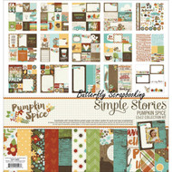 FALL PUMPKIN SPICE Collection Kit 12X12 Scrapbooking Kit Simple Stories 4600 NEW