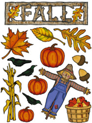 Fall Scarecrow Pumpkin Scrapbook Die Cuts Quick Cropper Cuts Outdoors & More NEW