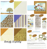 Family Memories 12X12 Scrapbooking Page Kit Deja Views 210 Pieces NEW