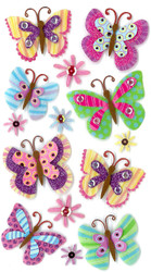 Fancy Paisley Butterfly Butterflies 3D Stickers Jolee's Boutique EK Success New