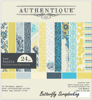 Favorite Collection 6x6 Scrapbooking Paper Crafting Pad 24 Sheet Authentique New