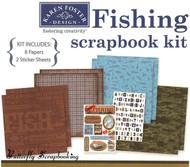 Fishing Fish 12X12 Scrapbooking Kit Gone Fishing Karen Foster Sports NEW