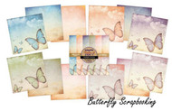 FLIGHTS FANCY Scrapbooking 6x6 in Paper Pad INDIGOBLU Mixed Media 24 Sheets NEW