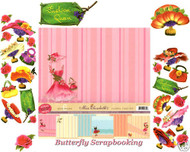 FLOWER BLOSSOM FASHION 12X12 Scrapbooking Kit LIMITED