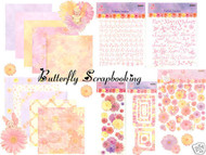 FLOWER FAIRY Flutterbyes 12X12 Scrapbooking Kit NEW